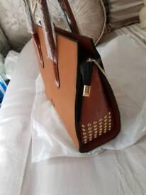 New brown dssigner bag