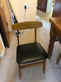 Six retro dining chairs