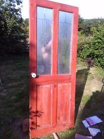 Internal glass door(B&Q) £5 pine