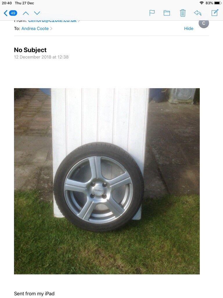 4 Dezent Alloy Wheels Kba 45418 With 4 Tyres In Emsworth