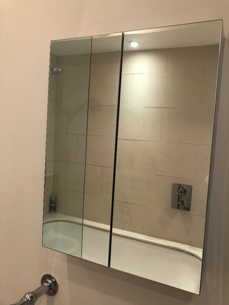 Bathroom Cabinet - Double Mirrored - John Lewis - Mint condition