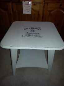 small shabby chic occasional table- ideal for fathers day - jack daniels design