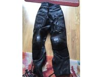 Belstaff leather motorbike coat and trousers
