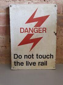 Railway Signage - White Danger Sign