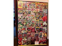 MARVEL COMIC BOOK COLLAGE CANVAS SUPERHERO WALL ART. 94 x 63 x 4 cms.