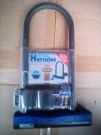 Hercules Bike D lock shackle U Blue BNIB New Unused XL size