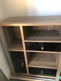 Wood and gloss unit x 2