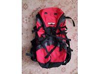 Hiking Rucksack Backpack Bag - PX Mountain Rangers - Red/Black - Large