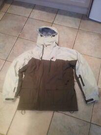 Olive Green and Cream Mens Trespass Ski Jacket - medium