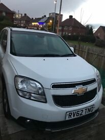Leeds Private Hire - White Chevrolet Orlando 62 plate, automatic, 1.8 petrol/LPG, Automatic
