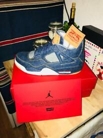 Levis X Nike Air Jordan 4 Navy: UK 9