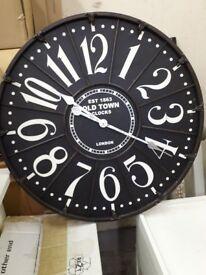 Black & White industrial effect clock