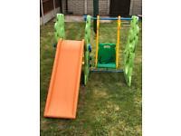 Children's Garden Swing and Slide Set