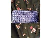 Blue checkered style purse