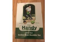 *CLEARANCE* The Handy 3000 Watt Garden Blow Shredder Vac 45 Litre *BRAND NEW*