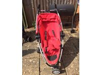Quinny Zapp Xtra Reclining Small Fold Red Buggy In Great Condition. Egham