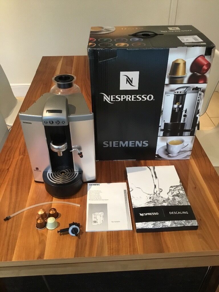 siemens nespresso coffee machine accessories in. Black Bedroom Furniture Sets. Home Design Ideas
