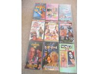 WWF/WCW wrestling vhs video joblot! HUGE collection, some rare! 80s, 90s, early 2000's! WWE