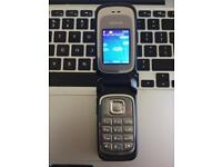 Nokia 6085 Silver Unlocked Flip Mobile Phone + Charger + Sim Card
