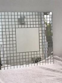 Mosaic square glass mirror