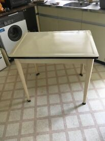 Vintage metal kitchen table