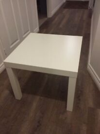 Ikea white square coffee table