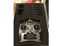 Spektrum DX6i transmitter with flight case. Like DX7 DX8 DX6. For RC helicopter, plane or drone