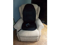 Celebrity electric reclining chair with Heated Back & Seat Massager - Dual motor –