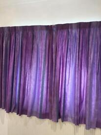 John Lewis purple curtains