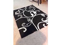 Large Black & White Floor Rug