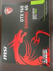 MSI GTX 960 Gaming 4GB Graphics Card Brand New In Box