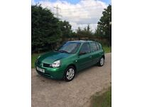 renault clio 2003 £30 TAX/ low milage