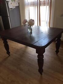 Antique mahogany winding table/kitchen table