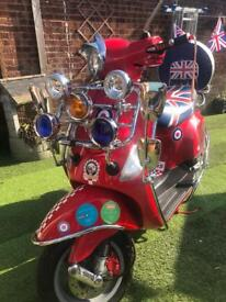Vespa lx50 70cc kit professionally fitted mod scooter