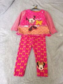 PINK MINNIE MOUSE LEGGINGS & TOP SET SIZE 2-3