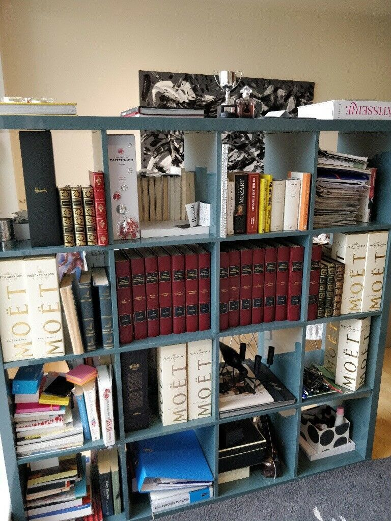 Ikea Kallax Glossy Blue Grey Bookcases In Chelsea London Gumtree