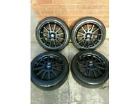 """Ford Fiesta Zetec S alloy wheels&tyres 16"""" / Limited edition / ST / RS / Black / 4x108"""