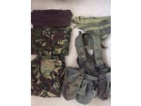 Army/cadets Uniform, webbing and more