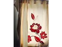 Beautiful Next rose red patterned curtains