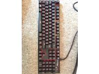HyperX cherry MX red mechanical keyboard- Like new