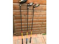 L/hand Taylormade r7 driver + 3 + 5 woods for sale