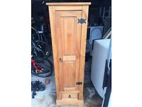 Antique Pine stained solid wood storage unit