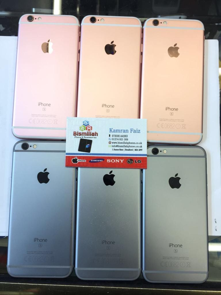 APPLE IPHONE 6S 16GB O2 Giffgaff Tesco BRAND NEW CONDITION WARRANTYSHOP RECEIPTin Bradford, West YorkshireGumtree - APPLE IPHONE 6S 16GB O2 Giffgaff Tesco BRAND NEW CONDITION WARRANTY & SHOP RECEIPT pick up fromBISMILLAH PHONES BD1 3JY BRADFORD TOWN CENTER Ph 1274921308FREE SCREEN PROTECTOR TEMPERED GLASS OR COVER opening time MONDAY TO SATURDAY 9 30 till 6SUNDAY...