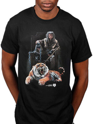 Official The Walking Dead Ezekiel Amp Tiger T-Shirt Last Day On Earth Service (The Walking Dead Last Day On Earth)