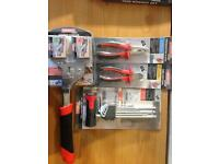 Four hand tools just £15 ( Hammer Stapler+ ball head hex key set + pliers + cutters)