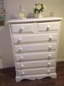 Pretty white chest of drawers
