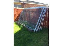 7 SECURITY FENCES AND FEET. BRACKETS ARE INCLUDED. COLLECTION ONLY . EXCELLENT NEW CONDITION