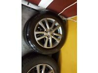 set of 4 TOYOTA YARIS ALLOY WHEELS (NEW SHAPE) WITH BRANDNEW TYRES