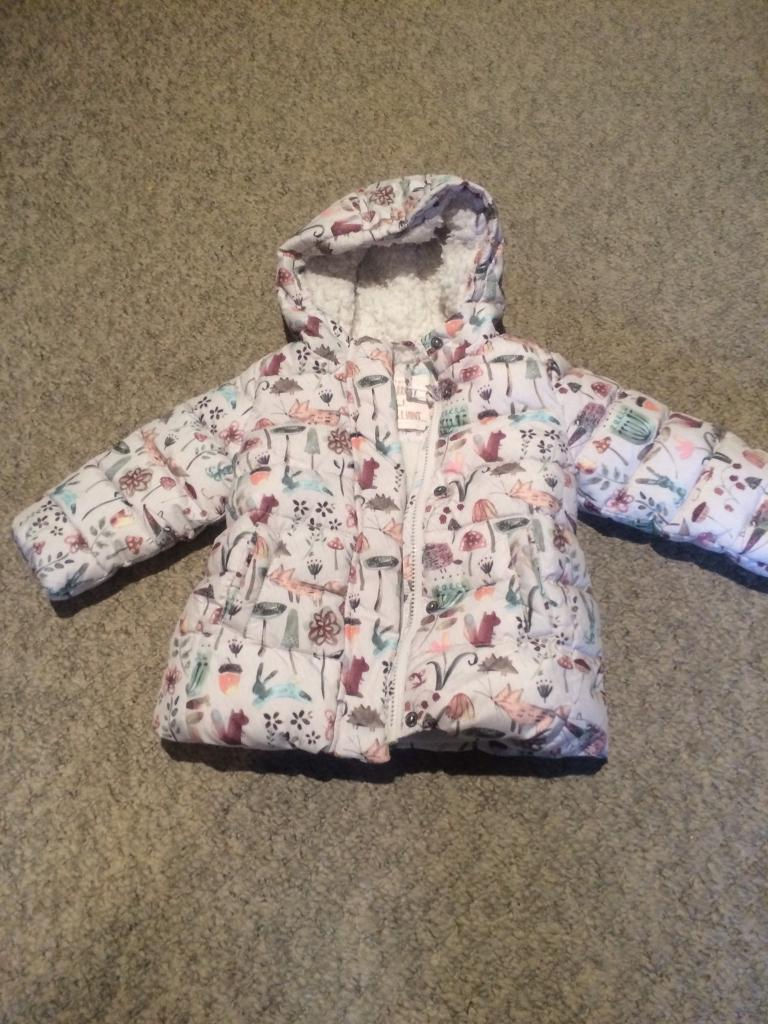 f858a311f Next girls winter coat 9-12 months excellent condition