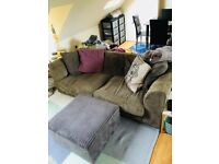 FREE 3 seater sofa with storage foot stool